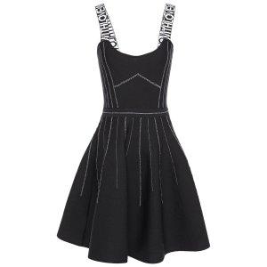 Maje吊带小黑裙