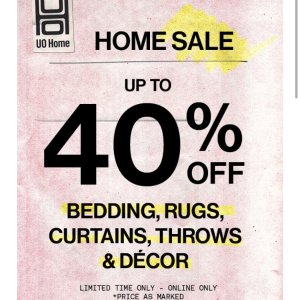 Up To 40% OffUrban Outfitters Home Sale