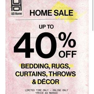 最后一天:Urban Outfitters 家居装饰、床品、家具、文具等热卖