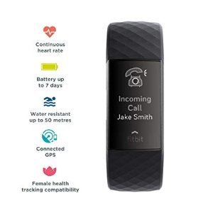 FitbitFitbit Charge 3 黑色手环