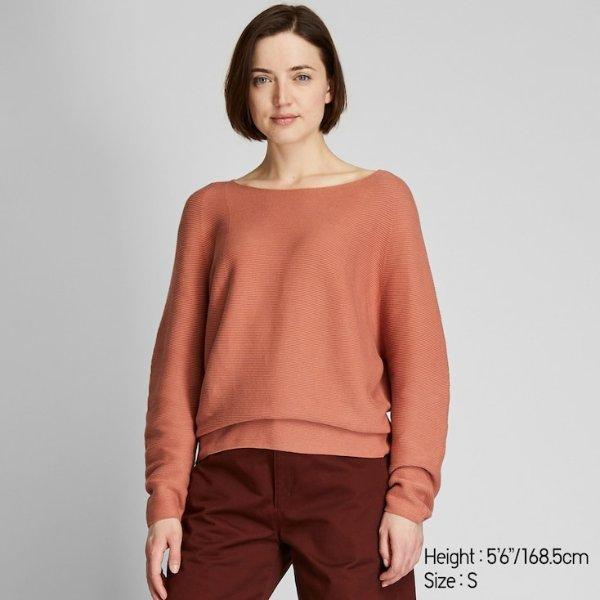 脏橘色 3D针织毛衣