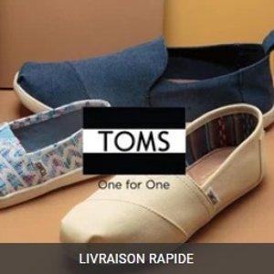 低至2.5折闪购:TOMS 全场渔夫鞋、靴子等热卖 加绒款温暖你的jiojio