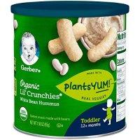 GERBER GRADUATES 有机蔬菜味脆条 45克*6