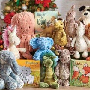 1件享7.5折Jellycat、Gund 超萌毛绒玩具图书等促销