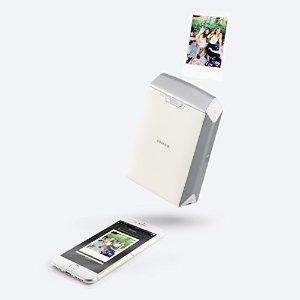 FujifilmInstax Share SP-2便携照片打印机 银色(附带10 张相纸)