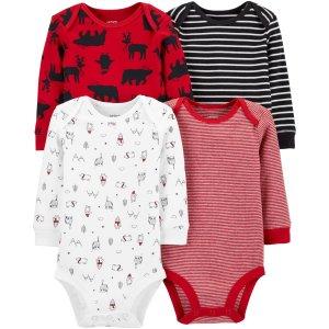 Carter'sDoorbuster婴儿长袖包臀衫4件套