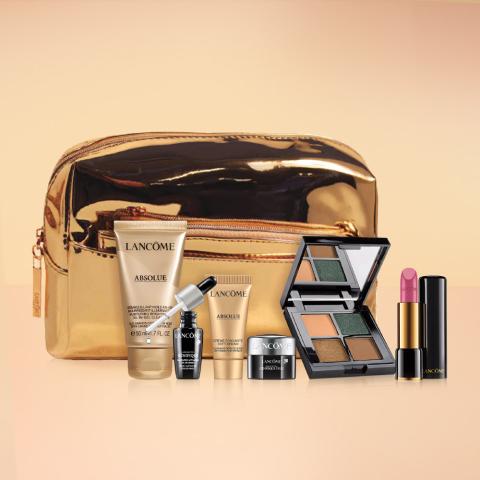 满减$150+价值$155礼包Lancome 美妆护肤热卖 收小黑瓶、粉水套装