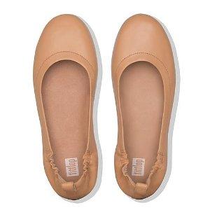 FitFlop多色可选!黄金码有货裸粉色芭蕾平底鞋