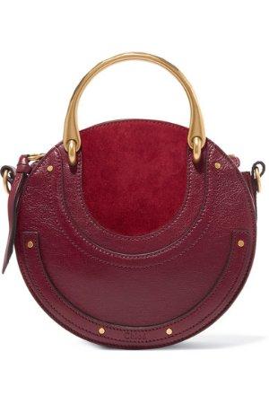Chloé | Pixie textured-leather and suede shoulder bag | NET-A-PORTER.COM