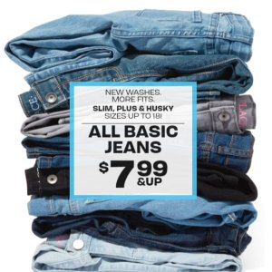 $7.99 & UpChildren's Place All Basic Jeans Sale