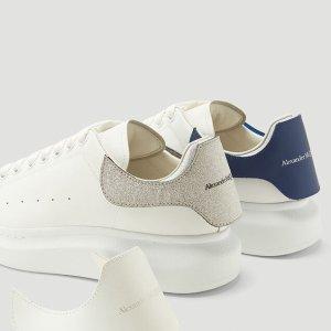 变相6.5折起 厚底新款$580Alexander McQueen 小白鞋八哥定价 蓝尾$437 (定价$675)免邮