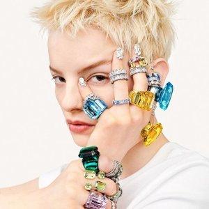 新品9折 水晶耳钉$85上新:Swarovski官网 全新风格华丽上线 彩色宝石、星星系列