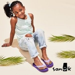 低至4折最后一天:Sanuk 超舒适儿童凉鞋、平底鞋促销