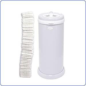 Amazon.com: Ubbi Steel Odor Locking, No Special Bag Required Money Saving, Awards-Winning, Modern Design Registry Must-Have  Diaper Pail, Gray: Baby