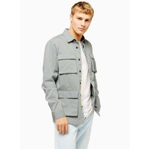 TopmanSage Four Pocket Workwear Shirt