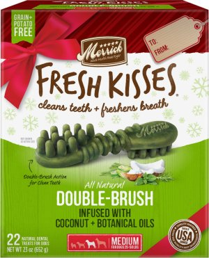 Merrick Fresh Kisses Holiday Coconut Dental Dog Treats