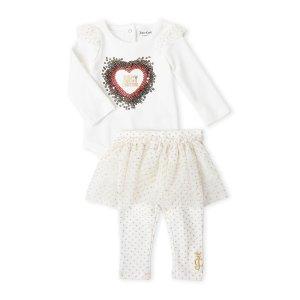 Juicy Couture(Newborn Girls) Two-Piece Bodysuit & Tutu Leggings Set