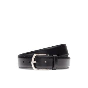 Classic buckle belt Calf Leather Black