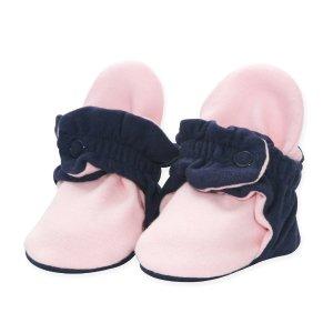 ZutanoOrganic Cotton Baby Bootie - True Navy/Baby Pink