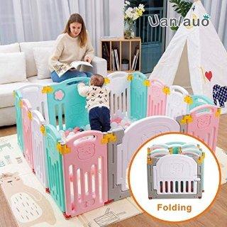 $89.99(原价$149.99)史低价:Uanlauo 可折叠儿童安全围栏