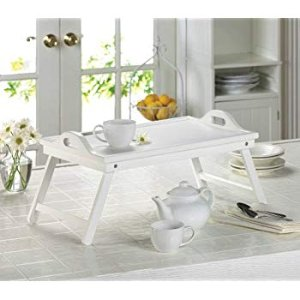 Amazon.com : White Chic Folding Shabby Lap Desk Table laptop Tray Books Breakfast Bed Serving : Office Products