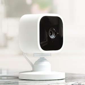 As Low As $24.99Blink Mini – Compact indoor plug-in smart security camera, 1080 HD video, motion detection, night vision