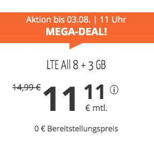 月租仅€11.11 免除€19.99接通费