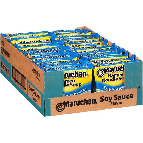 $5.47 + Free ShippingMaruchan Flavor Ramen Noodles, Soy Sauce (Pack of 24)
