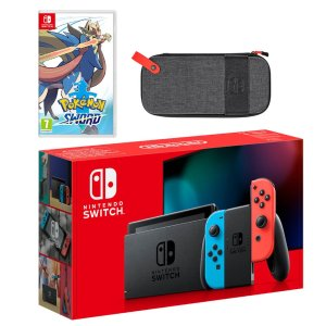 Nintendo宝可梦剑游戏套装 红蓝机