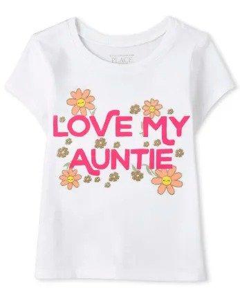 小童字母印花T恤
