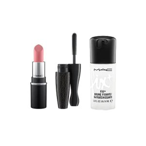 M.A.C子弹头唇膏+定妆喷雾+睫毛膏迷你彩妆3件套
