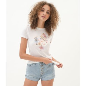 AeropostaleFloral Bouquet Graphic Tee