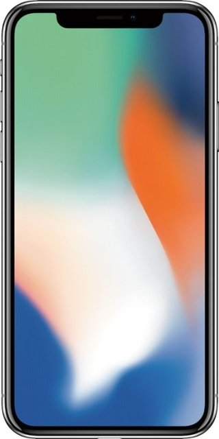 - Preowned iPhone X with 64GB Memory Cell Phone (Unlocked) - Silver