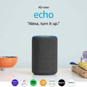 $79(原价$119)免邮近期好价:亚马逊 All-new Echo 第3代 多色可选