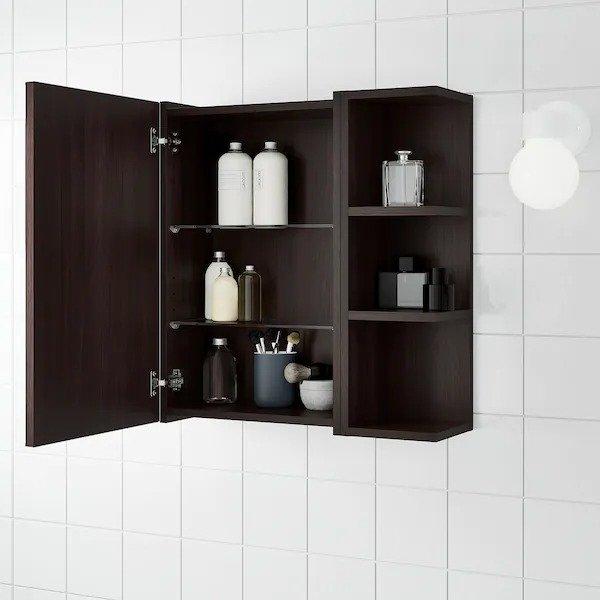带镜子的浴室收纳柜 59x21x64 cm