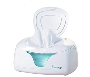 hiccapop Wipe Warmer and Baby Wet Wipes Dispenser | Holder | Case with Changing Light
