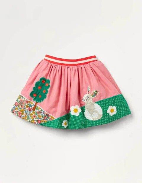 女童贴布绣半身裙