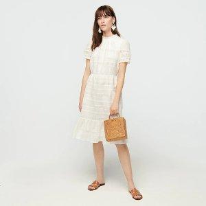 J.CrewPuff-sleeve daisy-chain dress