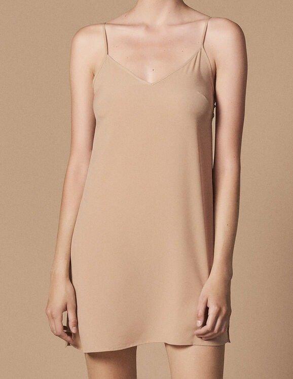 裸色吊带打底裙