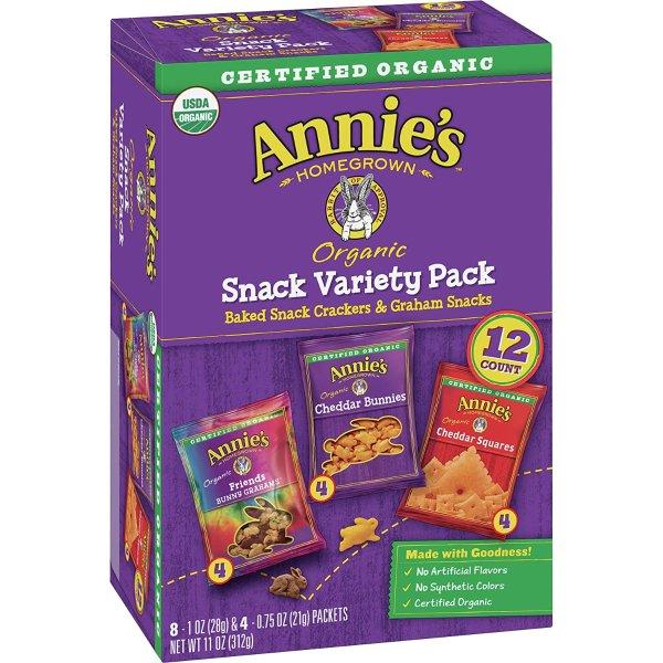 Annie's 三口味缤纷零食小饼干 12袋