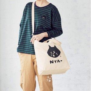 $8.1 / RMB55 直邮美国日本时尚杂志cookpad plus 2月刊 附录赠送 猫咪帆布包