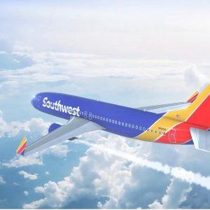 西南航空4日大促 全美多地机票低价收