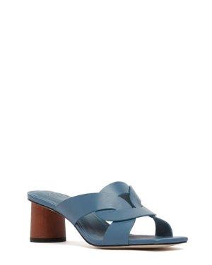 ALBIE - WOVEN BLOCK HEEL SANDALS | SANDALS | All Shoes | Pedder Red