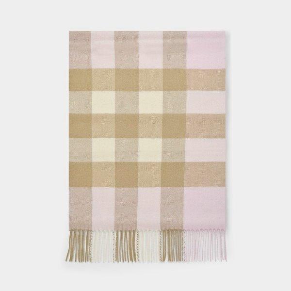 羊绒格纹围巾