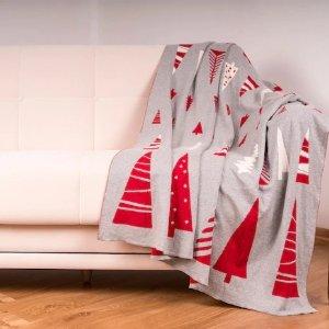 3折起 全棉毯子$23.99Linen Chest 时尚毛毯热卖 柔软舒适 宅家追剧必备