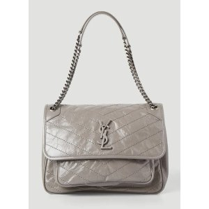 Saint LaurentNiki Medium Shoulder Bag in Grey