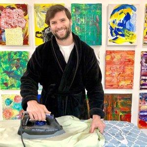 $25.99(原价$36.99)NY Threads 男士加厚珊瑚绒浴袍 披肩领+可调节腰带