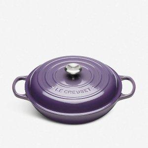 Le Creuset30cm紫色铸铁锅
