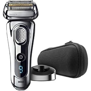 BraunSeries 9 9293s Men's Electric Shaver / Electric Razor, Wet & Dry, Travel Case with Charging Stand, Premium Chrome Cordless Razor, Razors, Shavers, & Pop Up Trimmer