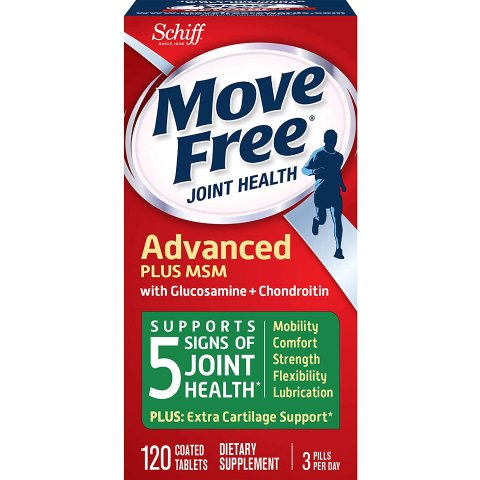 Move Free Glucosamine and chondroitin and msm Joint Health Tablets, move free (120 Count in a Bottle)